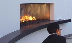 Fireplace Photos for Ideas Fireplace Built Ins, Fireplace Wall, Fireplace Design, Fireplace Ideas, Modern Fireplace Decor, Fire And Stone, Fire Glass, Condo, New Homes