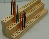 Items similar to Artist's 120 Pencil Holder Organizer TimeSaver on Etsy org. those art supplies Art Supplies Storage, Art Storage, Craft Room Storage, Craft Supplies, School Supplies, Wood Storage, Craft Rooms, Space Crafts, Arts And Crafts