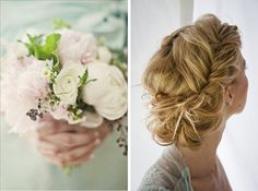 Wedding Blog Spring Hair + Matching Bouquets