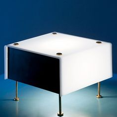 Pierre Guariche; #G-60 Plexiglass and Brass Table Lamp, 1950s.