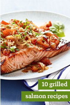 10 Grilled Salmon Recipes – For weeknight dinner ideas that include easy foil-pack cooking, think grilled salmon recipes. For cookout menus, think grilled salmon. For flavorful Healthy Living recipes, think… well, you get the picture!