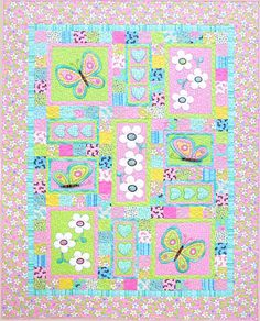 Kids Quilts - Oops-a-Daisy Pattern - THIS could be adapted to a cowboy quilt (debs)