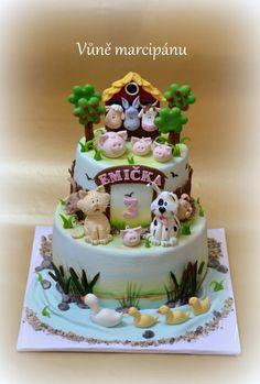 Animals on the farm - Cake by vunemarcipanu