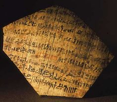 Texts recorded on papyrus and on pottery fragments have given us wonderful detail about the lives of these 'ordinary' Egyptians - including even their love affairs. The tomb of one such worker, a man called Peshedu, has beautiful painted murals showing him and his wife in paradise, cultivating their fields in a scene that in every way replicates their life on earth.