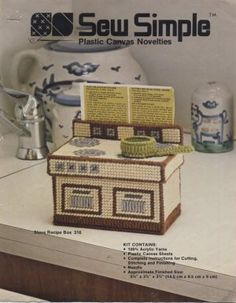 Free Easy Plastic Canvas Patterns | Sew Simple Plastic Canvas Stove Recipe Box Pattern Only From Kit 316