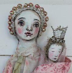 original+textile+fiber+wall+ooak+art+doll++by+fadedwest+on+Etsy