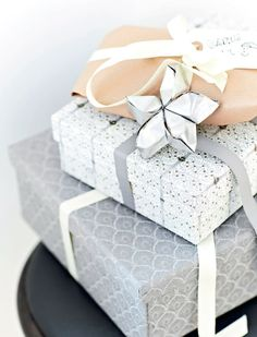 neutral gift wrap