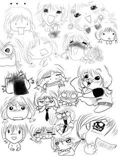 Manga Expressions 2 by ~miyakies on deviantART