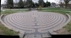This labyrinth is found inside the circle driveway of Maryland Hall for the Creative Arts