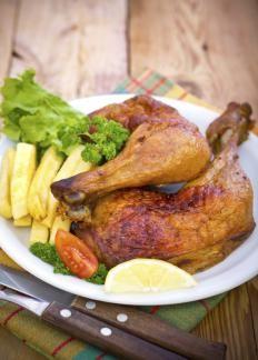 Cosce di pollo arrosto http://www.gustissimo.it/ricette/pollame/cosce-di-pollo-arrosto.htm