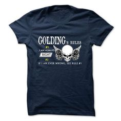 GOLDING -Rule Team - #gift ideas for him #mothers day gift. OBTAIN LOWEST PRICE => https://www.sunfrog.com/Valentines/-GOLDING-Rule-Team.html?68278