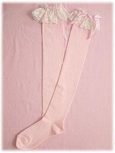 Kawaii Fashion, Lolita Fashion, Pink Fashion, Fashion Outfits, Latex Fashion, Emo Fashion, Over Knee Socks, Thigh High Socks, Thigh Highs