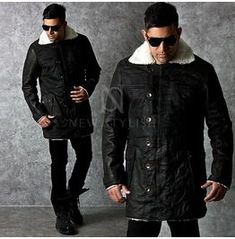 Outerwear - Unbeatable Multi-button closure cow leather long jacket - 76 for only ! Long Jackets, Winter Jackets, Blazers For Men Casual, Girl Outfits, Fashion Outfits, Collor, Cow Leather, Fitness Fashion, Black And Grey