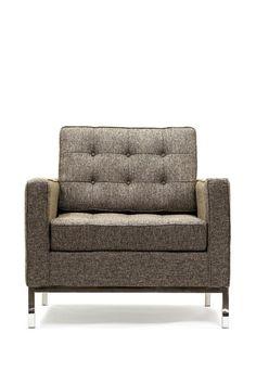 Loft Arm Chair in Oatmeal Tweed by California Modern Classics