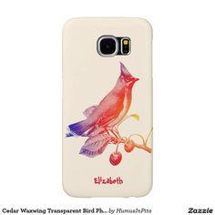 Cedar Waxwing Transparent Bird Phone Case Samsung Galaxy S6 Cases