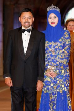 Crown Prince Al-Muhtadee Billah and Princess Sarah of Brunei