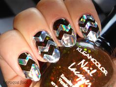 Chevron Nail Designs in 18 Beautiful and Elegant Ideas