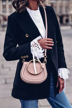 And Chloe? Are you trying to kill me with the bracelet bag. Chloe Nile Bag, Chloe Bag, Pink Fashion, Womens Fashion, Style Fashion, Fashion Jewelry, Blazers, Blazer Outfits, Work Outfits