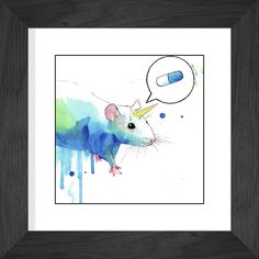 Unicorn Rat by Lora Zombie Limited Edition Print - Signed and numbered edition of 10. $99 Available at Eyes On Walls www.eyesonwalls.c... #art #gifts