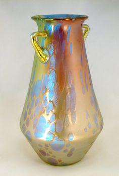 Art Nouveau Phenomen Genre 299 Tricolor Vase by Loetz, Austria