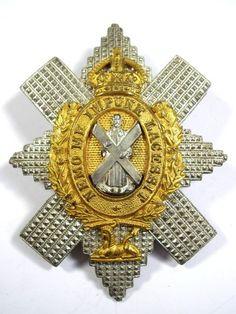Black Watch (Royal Highlanders) original Officers Glengarry Badge.