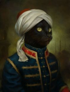 Eldar Zakirov – Classic Oil Paintings of Cats as Royalty