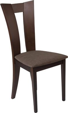 Talbot Espresso Finish Wood Dining Chair with Slotted Back and Golden Honey Brown Fabric Seat---Furnish your formal or informal dining room with this elegantly designed chair. Chair features a curved, attractive cutout back. Informal Dining Rooms, Elegant Dining Room, Dining Room Design, Dinning Set, Design Kitchen, Outdoor Dining Furniture, Wooden Dining Tables, Dining Table Chairs, Kitchen Tables