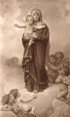 Our Lady of the Angels by William-Adolphe Bouguereau
