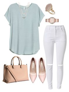 """Untitled #79"" by clarcyyy on Polyvore featuring H&M, Topshop, Michael Kors, Marc by Marc Jacobs, women's clothing, women's fashion, women, female, woman and misses"