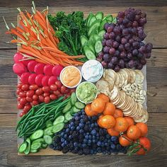 Sometimes you have to find your own rainbow. Cheeseboards and grazing boards. Party Food Platters, Veggie Platters, Veggie Tray, Vegetable Side Dishes, Charcuterie And Cheese Board, Charcuterie Platter, Rainbow Snacks, Eat The Rainbow, Bbc Good Food Recipes