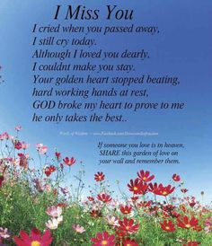this is nice for anyone who has lost a loved one...