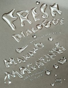 """Fresh Dialogue"" poster, 2006 Client: AIGA; Design firm: Doyle Partners"