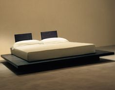 Liking how low this bed is and how big the platform is.  Not totally convinced about the separate headboards..,