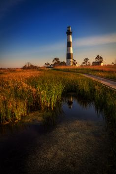 Sunset over Bodie Lighthouse in Nags Head, NC.I would like to visit this place one day.Please check out my website thanks. www.photopix.co.nz