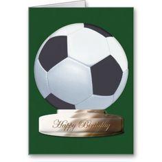 Soccer Ball Happy Birthday Card