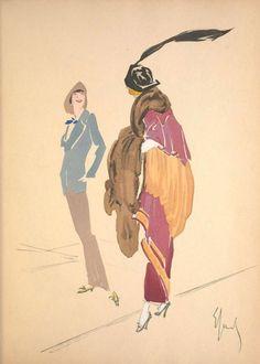 Enrico Sacchetti, Robes et Femmes, illustrazione - illustration