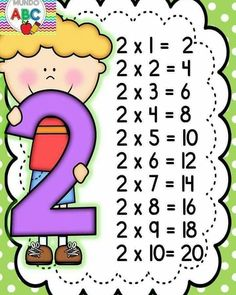 - 🌎Mundo Kids By Marly💋 - Tabuada pronta pra imprimir ! Math Coloring Worksheets, Preschool Worksheets, Math Tables, Multiplication Activities, Teacher Supplies, Classroom Projects, Kids Learning Activities, 2nd Grade Math, Math For Kids