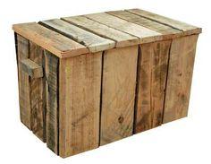 Dekenkist gemaakt met de planken van pallets