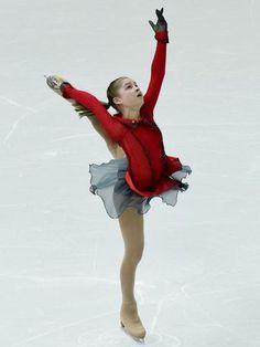Feb 9, 2014; Sochi, RUSSIA; Yulia Lipnitskaia (RUS) performs in the team ladies free skate during the Sochi 2014 Olympic Winter Games at Ice...