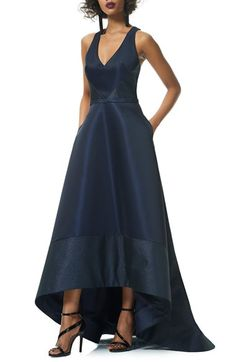 Theia High/Low Cutaway Sleeveless Ballgown available at #Nordstrom