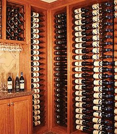 At least you can see the labels more easily in this wine cellar.