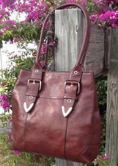 Wilsons Brown Leather Carry-all Tote Shopper Expandable Shoulder Bag Excellent! in Clothing, Shoes & Accessories, Women's Handbags & Bags, Handbags & Purses | eBay