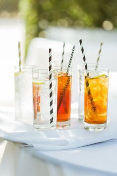 Adding cool straws spruces up any drink! View the full wedding here: http://thedailywedding.com/2015/11/30/glamorous-homely-wedding-cody-amy/ E