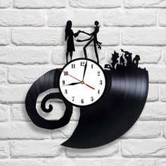 The Nightmare Before Christmas - 4 vinyl record clock in Home, Furniture & DIY, Clocks, Wall Clocks | eBay