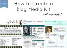 How to create a blog media kit with examples