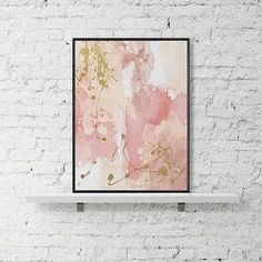 Modern printable wall art pastel print abstract paint watercolor poster pink gold wall art contemporary paint modern poster blue acrylic