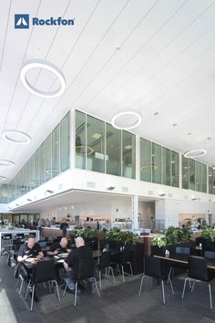 We spend the majority of our time indoors, so buildings are considered as contributors to our well-being, quality of life, and our productivity. With Rockfon acoustic ceilings you are secured with high light reflection and light diffusion to take full advantage of the natural light but also with great acoustics and sound control for better indoor climate. #SoundsBeautiful #Rockfon #lightdesign #light #officedesign #wellbeing #designforinspiration #inspiration #acoustics
