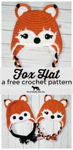 I love foxes. This free crochet fox hat pattern is therefore one of my favorites… I love foxes. This free crochet fox hat pattern is therefore one of my favorites! This is the worsted weight version of this bulky hat patte… Pin: 736 x 1513 Crochet Animal Hats, Crochet Kids Hats, Crochet Beanie, Crochet Crafts, Crochet Projects, Crocheted Baby Hats, Crochet Baby Stuff, Crochet Toddler Hat, Knit Hats