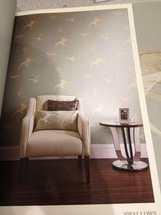 Swallows wallpaper Sanderson Swallows, Accent Chairs, Wallpaper, Furniture, Home Decor, Homemade Home Decor, Wallpapers, Barn Swallow, Home Furnishings