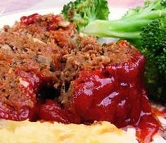 EZ MEATLOAF: Prep:10min; Cook: 1hr;  Ingred:1 pkg. McCormick Meat Loaf Seasoning Mix;  2 lbs ground beef or ground turkey;  2 eggs;  1/2 cup milk;  1/4 cup dry bread crumbs (I use Saltine crackers);  Ketchup or tomato sauce for topping